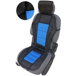 Autostoelkussen blauw zwart met kopsteun beschermer
