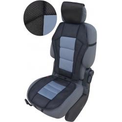 Autostoelkussen grijs zwart met kopsteun beschermer