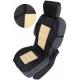 Autostoelkussen Beige Zwart met kopsteun beschermer