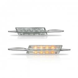 Chromen zijknipperlichten voor BMW Plug and play