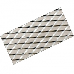 Aluminium Racegaas Zilver 120x20cm -6x12mm