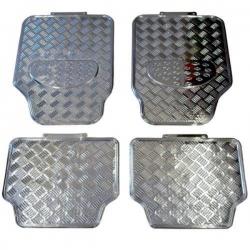 Chromen voetmatten Set 4-delig