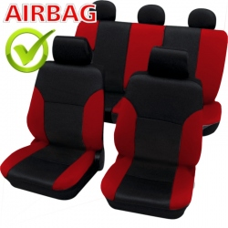 Autostoelhoes Zwart Rood met zijairbag