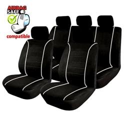 Autostoelhoes Zwart Wit met zijairbag