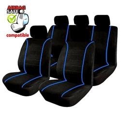 Autostoelhoes Zwart Blauw met zijairbag