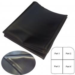 Multifunctionele deken zwart leder