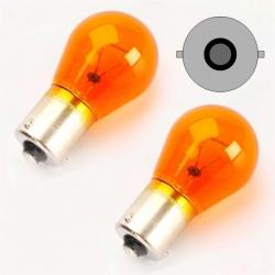 Halogeenlamp PY21W  geel BA15S 12V 21W (tegenover pinnen