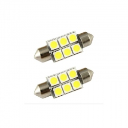 LED festoon  6 SMD 39mm wit