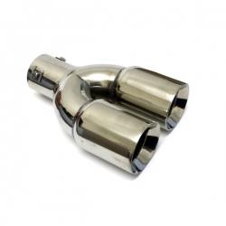 Uitlaatsierstuk RVS dubbel passend 30-60mm