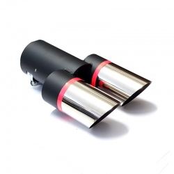 Uitlaatsierstuk RVS dubbel passend 30-58mm