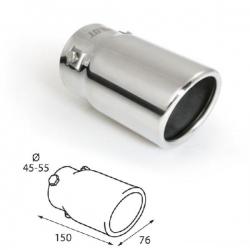 Uitlaatsierstuk RVS  Ovaal passend 45-55mm