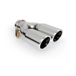 Uitlaatsierstuk dubbel rond passend 40 - 57mm