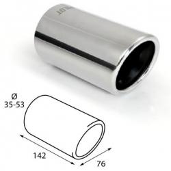 Uitlaatsierstuk RVS Rond passend 36-48mm