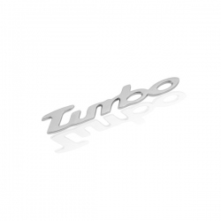 Chromen 3D auto logo sticker -Turbo