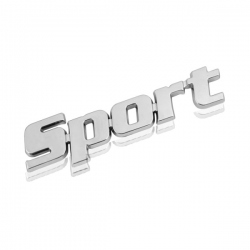 Chromen 3D auto logo sticker -Sport
