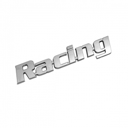 "Chromen 3D auto logo stickers ""RACING"""