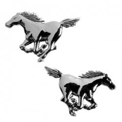 Chromen 3D auto logo-Paard