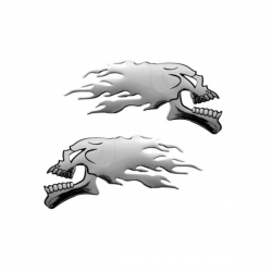 Chromen 3D auto logo- Skull Doodskop