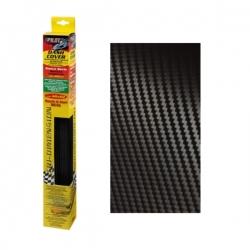 Plakfolie carbon - zwart 48x60cm