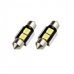 LED festoon buislamp 31mm C5W Canbus met 2 SMD LED