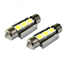 LED festoon buislamp 36mm  C5W Canbus 3 SMD Wit