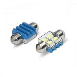LED festoon buislamp 31mm C5W Canbus met 4 SMD LED