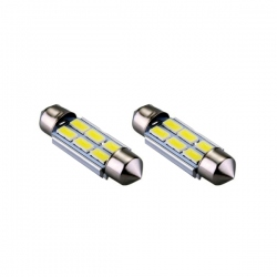 LED festoon buislamp 36mm C5W Canbus  6 SMD wit