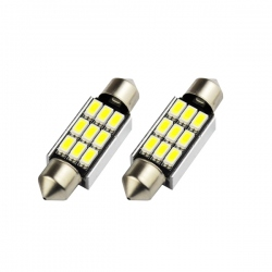 LED festoon buislamp 36mm C5W Canbus  9 SMD wit