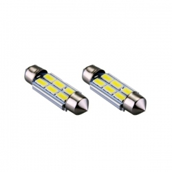LED festoon buislamp 39mm C5W Canbus  6 SMD wit