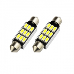 LED festoon buislamp 39mm C5W Canbus  9 SMD wit