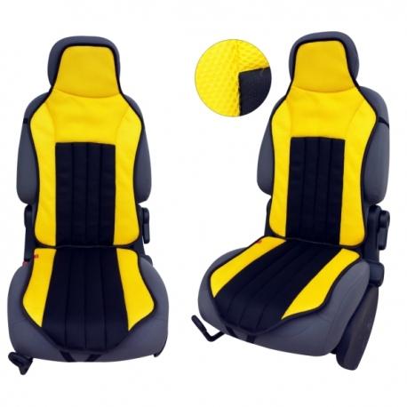 Autostoelkussen Geel Zwart