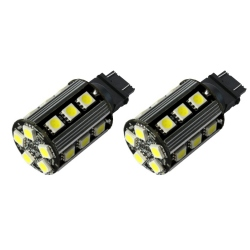 T20-Led lampen  Wit W21 / 5W 3157, T20, 7443 w3x16q (geen fout)