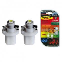 T5-LED-verlichting B8.5D BAX10D 12V 3528 1 SMD Wit