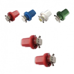 T5-LED-verlichting Rood B8.5D BAX10D 12V