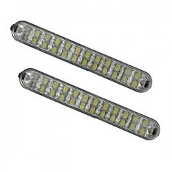 LED-dagrijlichten Afm: L 19,3cm  H 2.6cm  D 4cm met power 2x22 led's