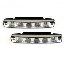 LED-dagrijlichten 2x5 power met knipperlicht uitvoering