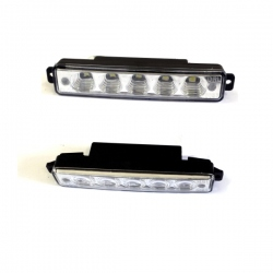 LED-dagrijlichten 2x5 power led L-15cm H-3cm D-4 cm