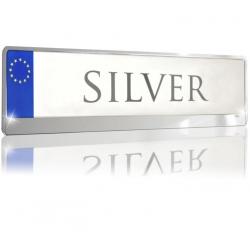Kentekenplaathouder ABS zilver