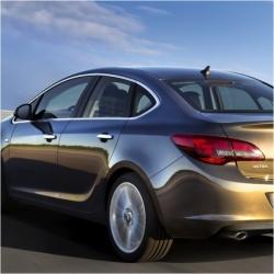 RVS chromen Raamlijst Opel ASTRA J SD 2010+