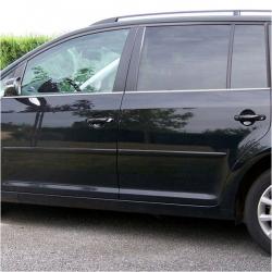 RVS chromen Raamlijst  VW Caddy