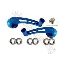 Aluminium Raamkrukken exclusive Line met blauwe Coating