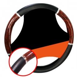 Stuurhoes 37-39cm zwart met houtlook