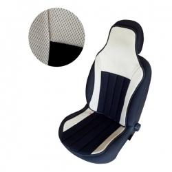 Autostoelkussen zwart - beige
