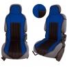 Autostoelkussen Blauw zwart