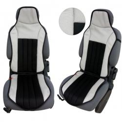 Autostoelkussen grijs zwart