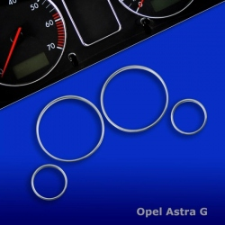 Chromen Telleringen voor Opel Astra G
