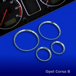 Chromen Tellerringen voor  Opel Corsa B
