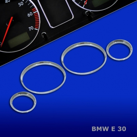 Chromen Telllerringen voor  BMW E30 Bj.82-94