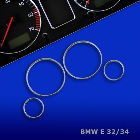 Chromen Tellerringen voor BMW E32, E34 Bj. 88-95