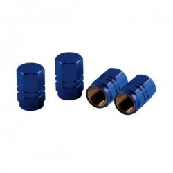 Aluminium ventieldoppen set blauw